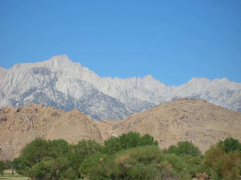 Mount Whitney from Lone Pine Visitor Center