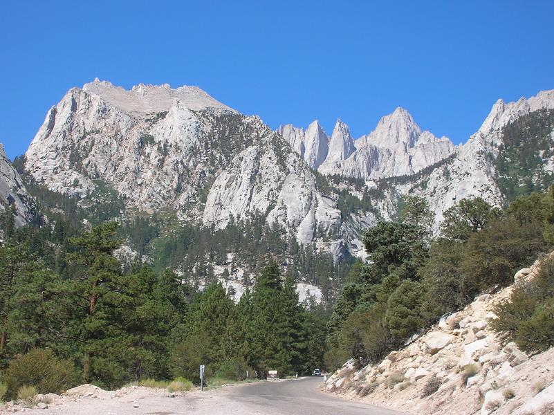 Mount Whitney from Whitney Portal Road