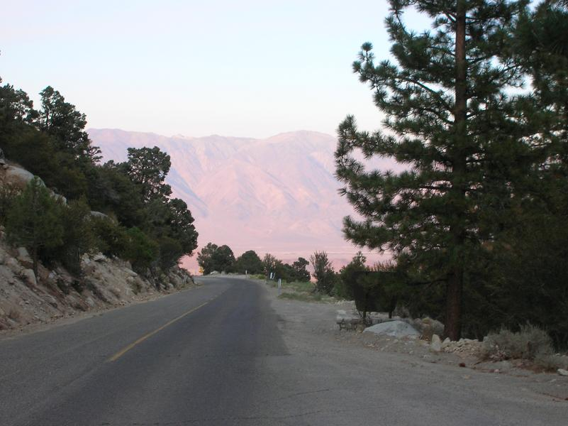 From Whitney Portal Campground looking east to Lone Pine