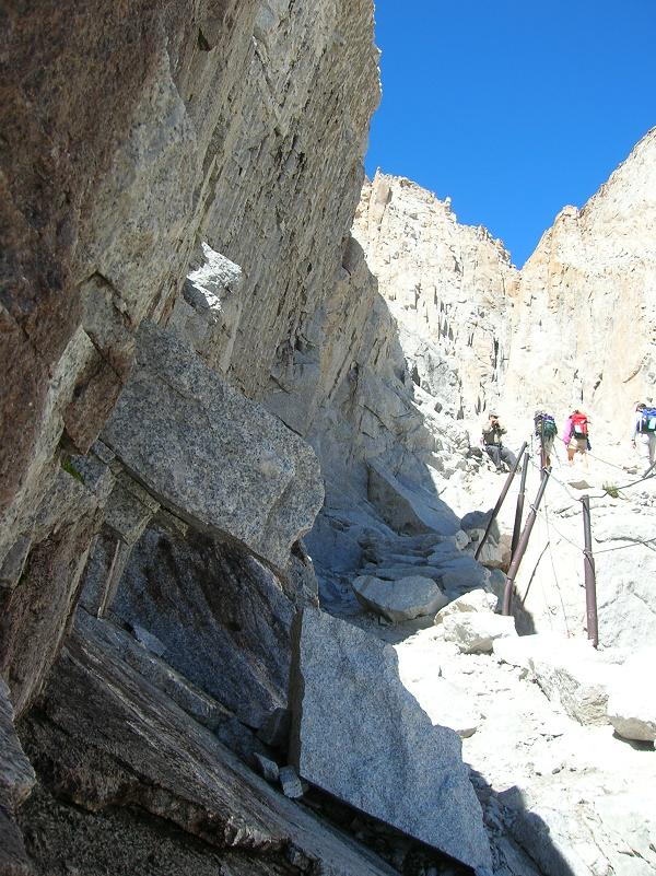 Cables on switchbacks, Mt Whitney