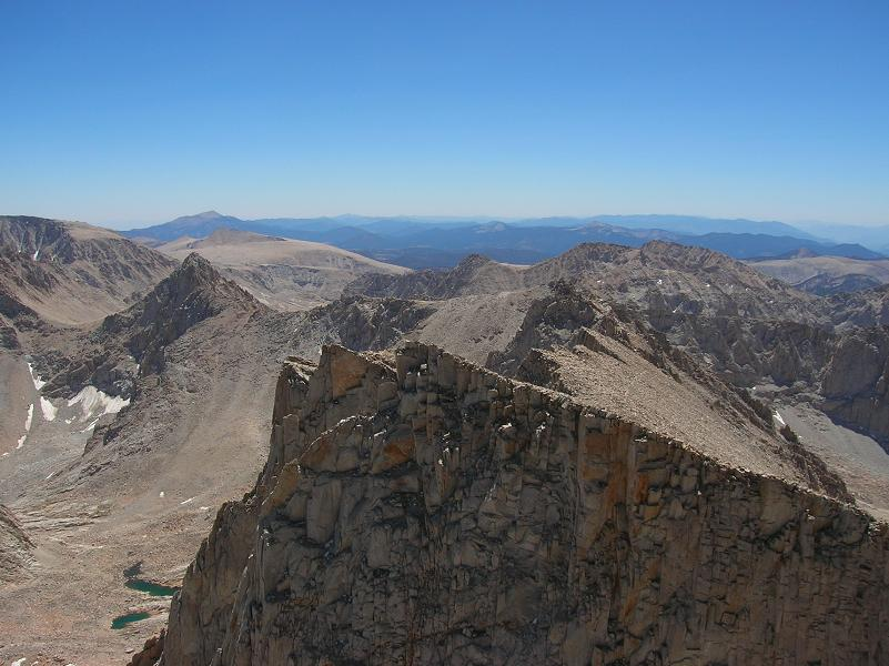 Mt Whitney, Looking south from the summit!