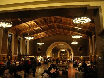 Inside Amtrak Station, union Station, Los Angeles