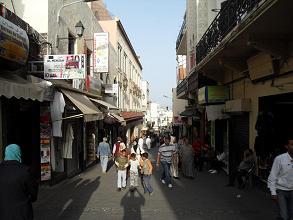 Medina stalls in Tangier, Morocco