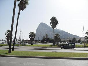 View of Rock of Gibraltar from Spain